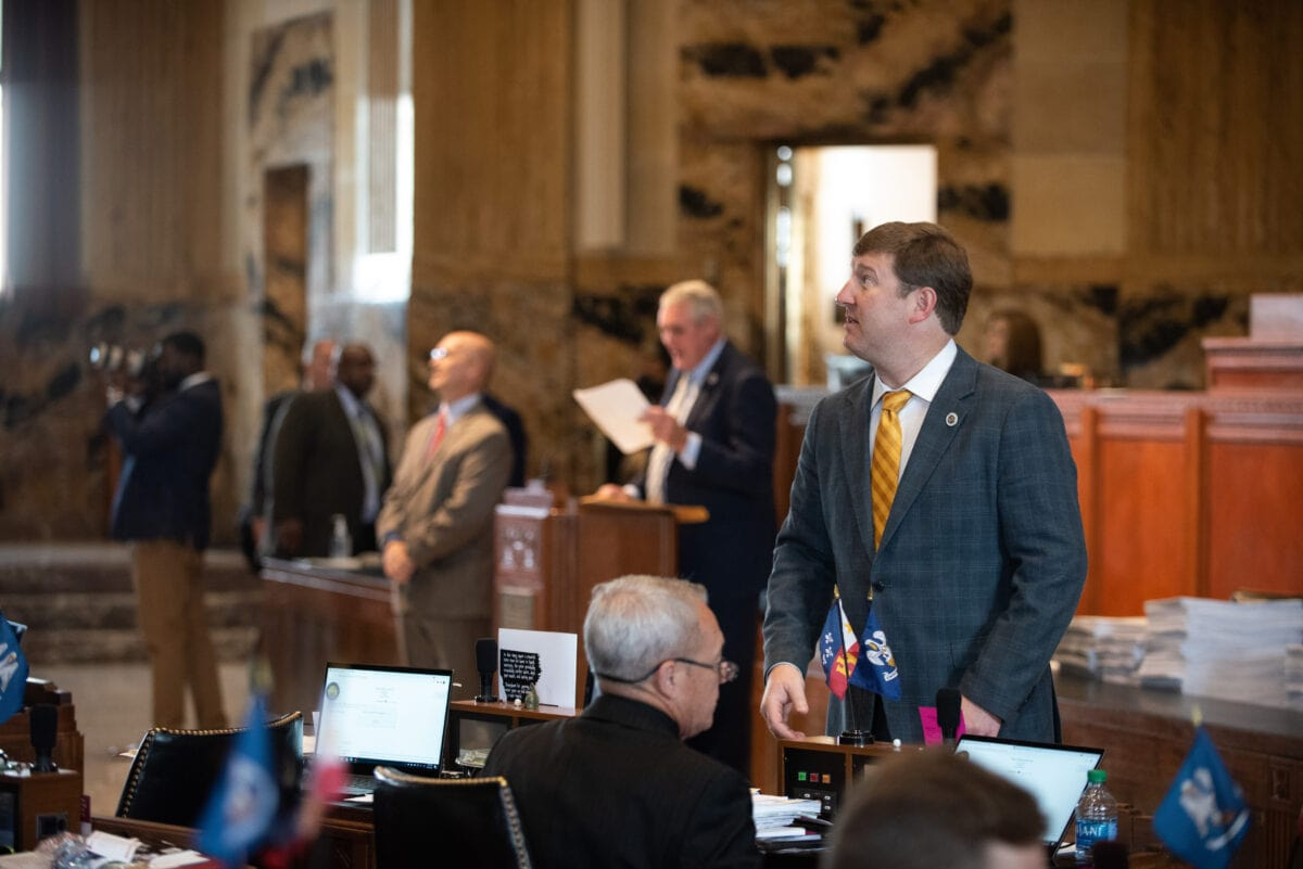 Lafayette Rep. Jean-Paul Coussan on the House floor
